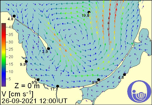 Kierunek i prędkość prądów morskich w Zatoce Puckiej i Gdańskiej na podstawie Modelu Ekohydrodynamicznego Instytutu Ocanografii Uniwersytetu Gdańskiego